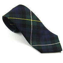 Mens Pure New Wool Tartan Neck Tie Made in Scotland Campbell Slim Necktie Photo