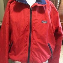 Mens Red Patagonia Water Resistant Windbreaker Jacket  Photo