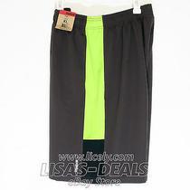 Mens Reebok Athletic Shorts & Pockets Drawstring Sport Gray & Green Xl Photo