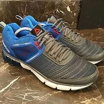 Mens Reebok Fitframe Size 12 Blue Silver Athletic Shoes Photo