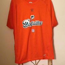 Mens Reebok Miami Dolphins Speedwick Shirt Size L Large Photo