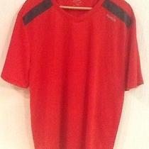 Mens Reebok Short Sleeve Red W/ Black Athletic Shirt  Xl  Euc Photo