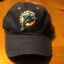 Mens Reebok Velcro Strap Back Miami Dolphins Baseball Style Cap  Photo