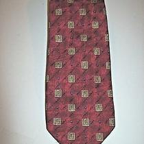 Mens Robert Talbott  Necktie Tom Wade Ltd. Red Gold Black & Blue 59