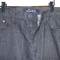 Mens Rock & Republic Henlee Black Bolted Denim Jeans 36 X 34 Nwt New Relaxed Hot Photo