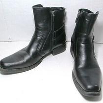 Mens Rock & Republic Zip Ankle Boots Black Mens Size 11 M Vgc Photo