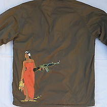 Mens Rvca Coaches Jacket Kevin Ancell Hula Guns Windbreaker Coat Lined Size L Photo