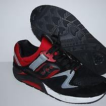 Mens Saucony Burgundy Red Grid 9000 Casual Running Sneakers Shoes Size 10  Photo
