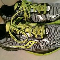 Mens Saucony Hurricane 14 Running Shoes Size 11 Silver Black Yellow Photo
