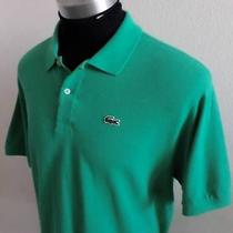 Mens Sea Green 80's Lacoste Alligator Club Golf Polo Shirt Sz 8/2xl Look Photo