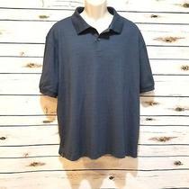 Mens Shirt Extra Large Blue Short Sleeve Polo Hudson River Photo