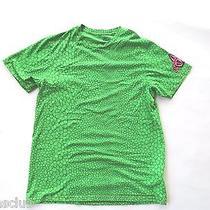 Mens Shirt Reptile Lizard Todd Bratrud Volcom Stone Artist Green Skateboard M Photo