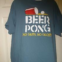 Mens Shirt Xl Beer Pong Games Friday Night No Guts No Glory Drinking Game 21st  Photo