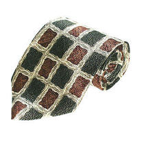 Mens Silk Neck Tie by Kenneth Cole Earth Tones Cells Necktie Photo