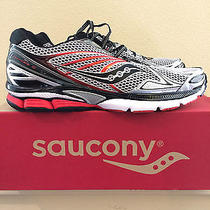 Mens Size 12.5 Saucony Powergrid Hurricane 15 Medium Running Shoes Silver Black Photo