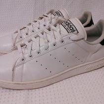 Mens Size 13.5 Adidas Stan Smith White/black Athletic Sneakers  Photo