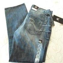 Mens Size 29x30 Rock & Republic Bolt Blue Jeans New  Photo