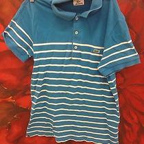 Mens Size 3 Xs Lacoste Polo Stripes Vintage Unique Rare. Worn Wash. Photo