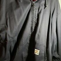 Mens Size 4xl Tyndale Fr Flame Resistant Work Jacket Dark Blue/blacknew W/o Tags Photo