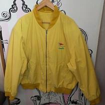 Mens Size 54 Xxl Vintage 80s Hugo Boss Yellow Golf Bomber Jacket Retro Golfing Photo