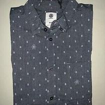 Mens Size M Medium Element Logo Print Casual Button Down Shirt  Photo
