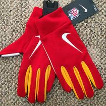 Mens Size Medium M Kansas City Chiefs Football Gloves Txt on Silicone Gf0119 160 Photo