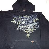 Mens Size Xl Williamson Dickie Dickies Pullover Hoodie Black Eagle Unique Rare Photo