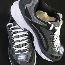 Mens Skechers Gym Shoes Size 8.5 Extra Wide Ee Navy Black Sport Athletic Nib Photo