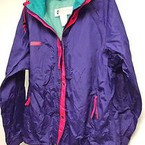 Mens Ski Shell Jacket Columbia Sportswear Purple-Green  Radial Sleeves-Size M Photo