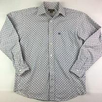 Mens Small Ariat Button Dress Shirt Long Sleeve Blue White 10020964 Burton Photo