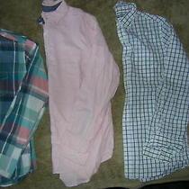 Mens Small Lot 3 Long Sleeve Button Dress Shirts Euc Aeropostale Bass Old Navy Photo