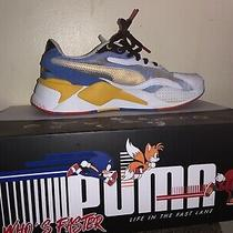Mens Sonic Puma Sneakers Size 8.5 White Yellow and Blue Photo