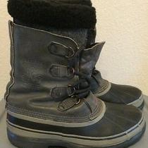 Mens Sorel Caribou  8 Euc Canada Leather Insulated Snow Boots  Brand New Liners Photo