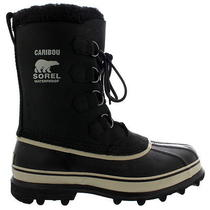 Mens Sorel Caribou Snow Fur Lined Mid Calf Laced Winter Suede Boot All Sizes Photo