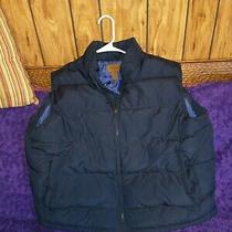 Mens St. John's Bay Quilted Navy Blue Vest Size Xl Euc Photo