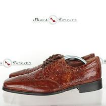 Mens Stacy Adams Brown  Crafted Leather Oxfords/dress Shoes Sz 10 M 179 Photo