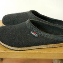 Mens Stegmann Wool Charcoal Heather Black Ribbon Felt Cork Clogs 10 44 Germany Photo