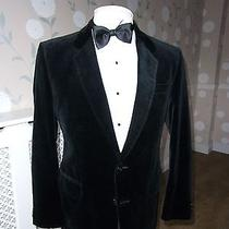 Mens Superb Vtg Burton  Contoured Tailored Black Velvet Jacket -  42 S Photo