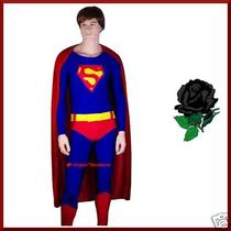 Mens Superman Super Hero Man Fancy Dress Costume - L / Xl Photo