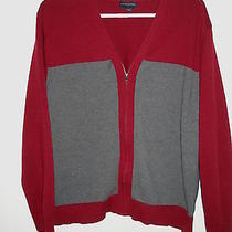 .mens Sweater Size Xxl (2xl) Banana Republic Red/gray Cardigan Cotton Male Photo