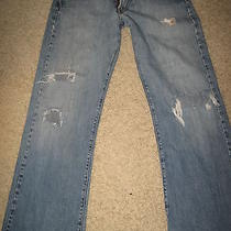 Mens Sz 29 Lucky Brand Fender Destroyed Boot Cut Jeans Photo