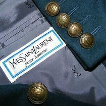 Mens Sz 38 Yves Saint Laurent Ysl Signature Db Blazer Sportscoat Cashmere Blend Photo