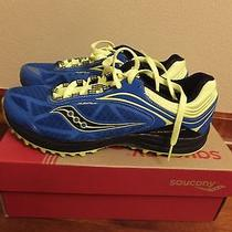 Mens Sz Size 9.5 Saucony Progrid Peregrine 3 Running Athletic Shoes 20182-2 Blue Photo