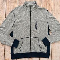 Mens Sz Xl Slub Sweatshirt Zipper Front Pockets Gray/blue Nwt Gap - 965350 Photo