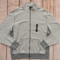 Mens Sz Xl Slub Sweatshirt Zipper Front Pockets Gray/gray Nwt Gap - 965370 Photo