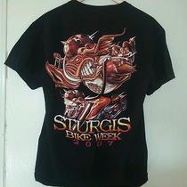 Mens T-Shirt Sturgis Bike Week 2007 Black Szm Wild Hog Motorcycle Chopper Harley Photo