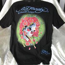 Mens T Shirt  Xxl  Ed Hardy  Skull Black   Flower Lightning Bolt Photo