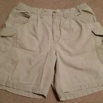 Mens Tan Columbia Hiking Cargo Outdoor Shorts Size 34 Photo