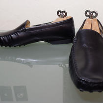 Mens Tod's Classic Black Leather Driving Loafers Shoes Size 9.5 Primo Condition Photo