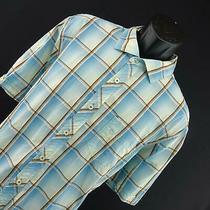 Mens Tommy Bahama Jeans Blue Plaids Hawaiian Button Down Shirt Size Xl Casual Photo